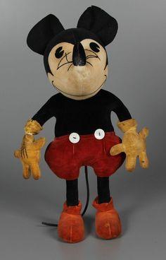 Velvet Mickey Mouse stuffed animal by Steiff, 1930
