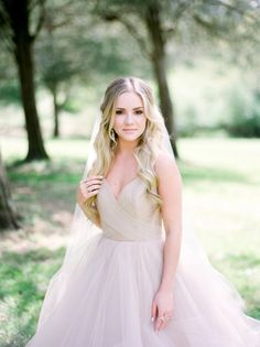 Hayley Paige wedding dress with full tulle skirt, fairytale wedding