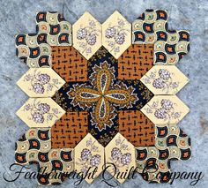 This listing is for the FABRIC and 25 - 1 honeycomb paper pieces to make the above quilt block. There are only a limited number of block