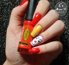 #nails #nail #fashion #style #palhaço #cute #beauty #beautiful #circo #pretty #girl #girls #stylish #sparkles #styles #gliter #nailart #art #opi #clown #essie #unhas #preto #branco #rosa #love #shiny #polish #nailpolish #circus