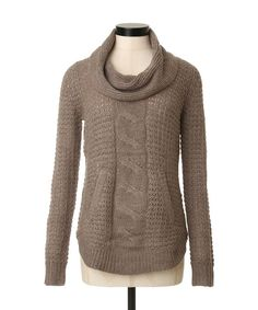 Ready for a weekend at the cabin in this Web Exclusive → Cowl Neck Cable Sweater   KISMET
