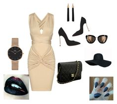 """""""Untitled #166"""" by sabii-dlii ❤ liked on Polyvore featuring Casadei, Daniel Wellington, Chanel and Yves Saint Laurent"""