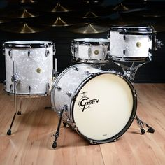 Gretsch USA Custom 12/14/18/5.5x14 4pc Drum Kit Vintage Marine Pearl