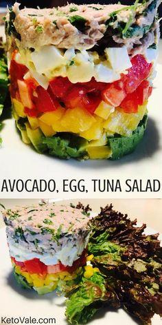 Avocado, Egg And Tuna Salad
