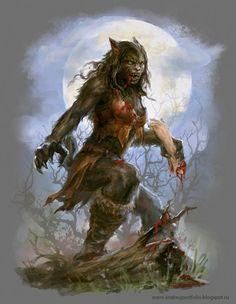 Everything I Like, Vampires, Werewolves, Dark fantasy art , Sci fi art,horror, pin ups & tanks ! Female Werewolves, Vampires And Werewolves, Dark Fantasy Art, Fantasy Artwork, Werewolf Girl, Noctis, Classic Monsters, Wow Art, Monster Art