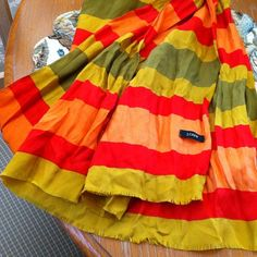 JCREW 100% Silk Scarf- Citrus Multi This is a gorgeous piece..extra large size that could even be a sarong! J. Crew Accessories Scarves & Wraps