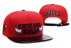 NBA Chicago Bulls Red Strapback Hats Brim Shine Leather|only US$8.90 - follow me to pick up couopons.