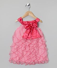 Take a look at this Pink Ruffle Bow Dress - Toddler & Girls by One Posh Kid on #zulily today!
