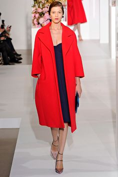 red jacket by Jil Sander Fall 2012
