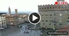 Enchanting view of a rainy day in #Florence. Watch it live!  #Italy #Italia #Travel #Toscana