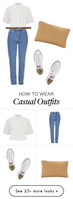 """""""casual outfit"""" by anisadhs on Polyvore featuring T By Alexander Wang, Topshop, H&M, Converse and Bottega Veneta"""