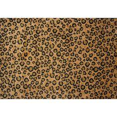 Leopard Skin Brown Nylon Area Rug (8' x 11') (96 inch x 132 inch), Size 8' x 11'
