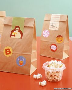 Make lunchtime even more appetizing by decorating kids' lunch bags or boxes with cheery stickers and labels.