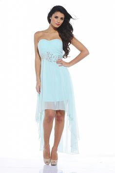 AX Paris jewel strapless dress