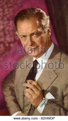 Juergens, Curd, 13.12.1915 - 18.2.1982, German actor, portrait, clection picture of LUX product series, with signature, - Stock Photo