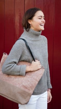 Suedine handbag. Handmade bags by Jozemiek