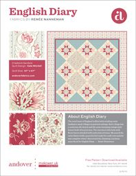 Free quilt pattern using these beautiful fabrics. Click on the picture to download. English Diary, Quilt Patterns Free, Quilting, Fabrics, Diy Crafts, My Love, Projects, How To Make, Pictures