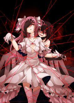 Kaname Madokami and Akuma Homucifer - Madoka Magica Rebellion