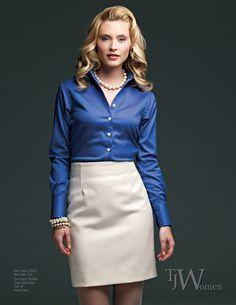 Tom James - TJ Women #custom #blouse #skirt