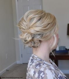 Messy Side Updo by gail