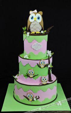 Children Cakes, baptism, birthday, Design Cakes, owls