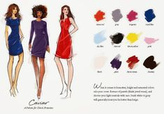 12 ideal colour combinations for your hair and clothes