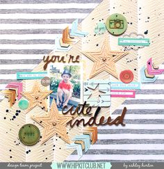 You're Cute Indeed - American Crafts - Amy Tangerine Collection - Rise and Shine