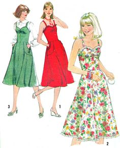 1970s Dress Pattern Simplicity 8467 Sweetheart Neck by paneenjerez, $12.00