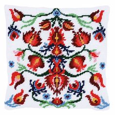 A traditional floral design with a white background.