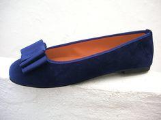 Tana ballerina shoe in mykonos blue by Maria by MariaRivassi, $214.00
