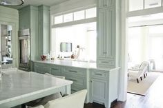 Duck egg kitchen marble counter tops