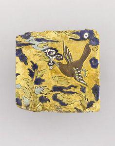 A Safavid cuerda seca pottery Tile Persia, 16th/ 17th Century