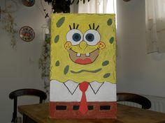 Spongyabob jelmez kartonból.