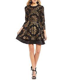 564b91d844f Gianni Bini Kyli Brocade Dress Metallic Cocktail Dresses