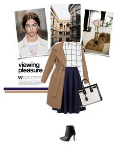 """""""Blue skirt"""" by bogira ❤ liked on Polyvore featuring Prada, N°21, Warehouse and Yves Saint Laurent"""