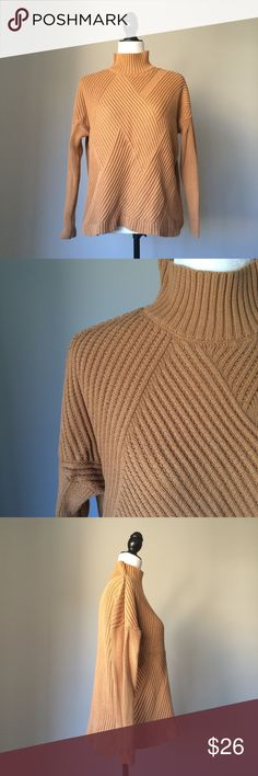 "August Silk Mustard color sweater No signs of wear on this beautiful, cozy sweater. Medium sized, fabric is 70% cotton and 30% acrylic. Approximate measurements: 23,5"" long, flat across: waist 23"", armpit to armpit 24"". august silk Sweaters"