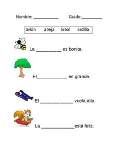 Completa las oraciones by Spanish for Everyday Spanish Lessons For Kids, Learning Spanish For Kids, Spanish Basics, Spanish Lesson Plans, Spanish Language Learning, Teaching Spanish, Kids Learning, Spanish Worksheets, Spanish Activities