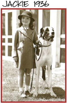 Jacqueline Bouvier Kennedy Onassis and Great Dane.