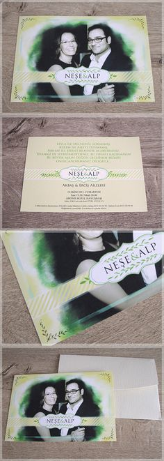 Canvas of the Sun, photography  wedding invitations. Fotoğraflı düğün davetiyesi