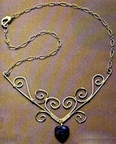 How to make a vintage necklace copper wire? Easy! View as: | Creating Jewelry - Mount Jewelry: How to Make l, Step by Step, Ideas and ...