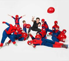 tom with his little spideys