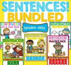 All YEAR LONG SIGHT WORD SENTENCES CUT , READ, ID, WRITE AND PASTE !!! FUN FOR KINDERGARTEN AND FIRST GRADE.