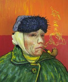 肖像・ゴッホ   1985年  カラー写真  120x100 cm   44x 40 cm