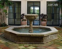 Thriving garden outdoor water fountains comprise friendly most diverse classifications within Relieving Walls. These would be advantageous art pieces that could be placed anywhere. Garden Fountains and Ponds Garden Fountains Outdoor, Outdoor Gardens, Water Fountains, Front Yard Landscaping, Backyard Patio, Landscaping Ideas, Patio Design, Garden Design, Pool Fountain