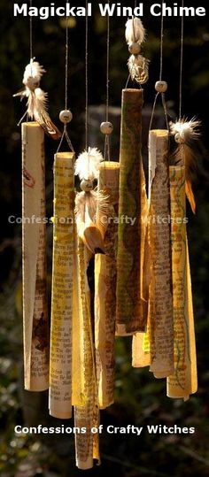 Guide to Magical Paths : Magickal Paper Wind Chimes Tutorial