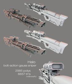 Halo Bolt Action Gauss Sniper by ImBrokeRU.deviantart.com on @DeviantArt