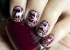 christmas nails holiday nails #nailart #winter