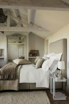 love the taupe and white (different headboard)