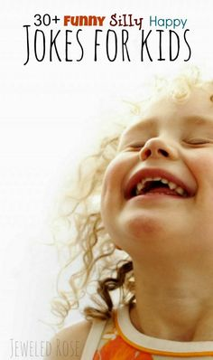 30 kids jokes that will keep the whole family laughing! Cute, silly, and FUN jokes that toddlers and preschoolers will actually enjoy are hard to find! Kids And Parenting, Parenting Hacks, Jokes For Kids, Kid Jokes, Funny Jokes, Silly Jokes, Toddler Jokes, Baby Jokes, Hilarious