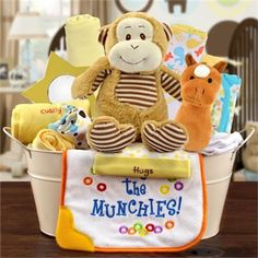 When it comes to safari themed baby gifts theres only one that can welcome home sweet baby gift basket large by baby gifts n treasures negle Image collections